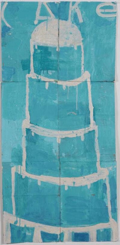 Gary Komarin, 'Cake Stacked:White onTurquoise', 2015