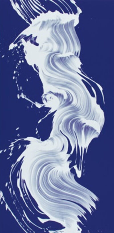 James Nares, 'Epigraph 3 (white on blue)', 2005