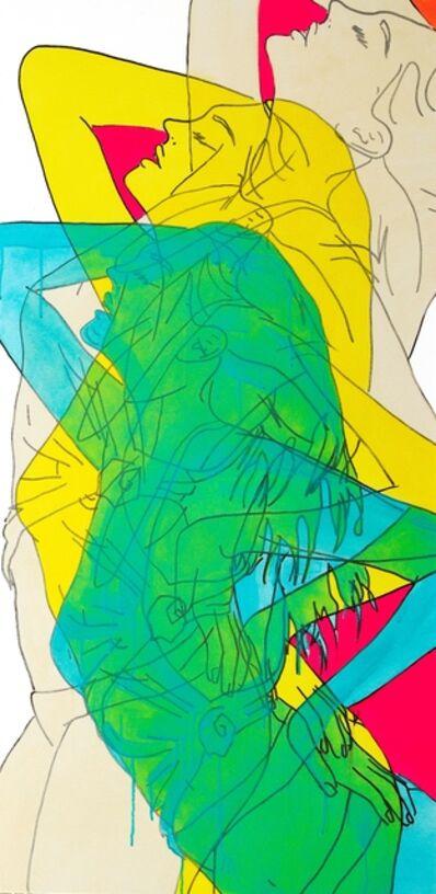 Hilary Bond, 'Unbleached Titanium, Yellow, Teal', 2015