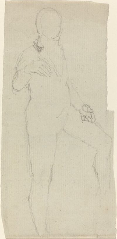 John Flaxman, 'Male Figure in Contemporary Dress', in or after 1801