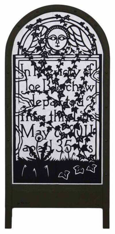 Joe Boruchow, 'Momento Mori - Wheatpaste'