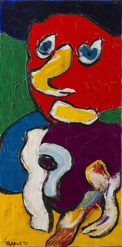 Karel Appel, 'Formidable visitor', 1971