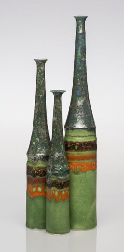 Bruno Gambone, 'Three Vases'