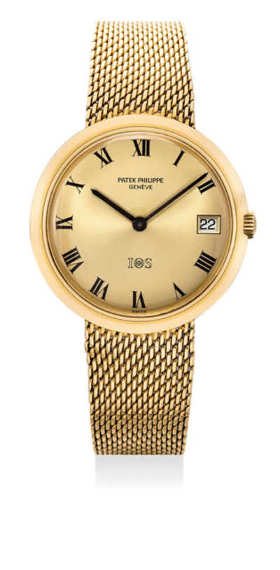 Patek Philippe, 'A fine yellow gold wristwatch with date and bracelet, made for the IOS Million Dollar Association', 1969