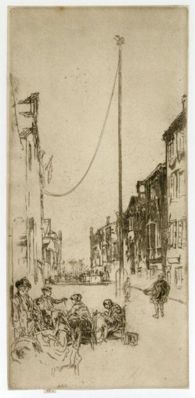 James Abbott McNeill Whistler, 'The Venetian Mast', 1879