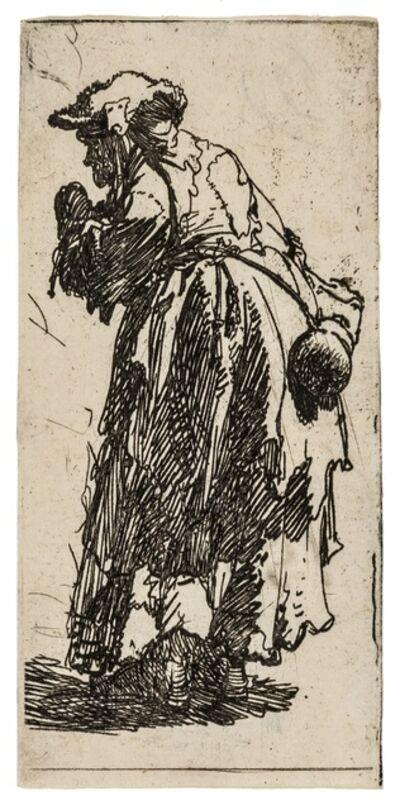 Rembrandt van Rijn, 'Old Beggar Woman with a Gourd', circa 1630