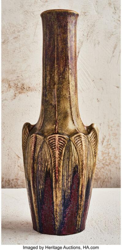 Émile Decoeur, 'Ribbed Vase', circa 1906