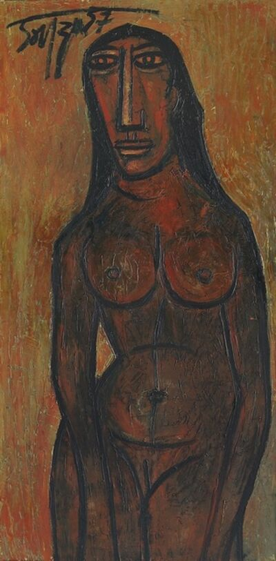 Francis Newton Souza, 'Temple Dancer', 1957