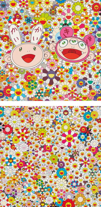 Takashi Murakami, 'Kaikai and Kiki: Lots of fun; and Field Of Smiling Flowers', 2009 and 2010