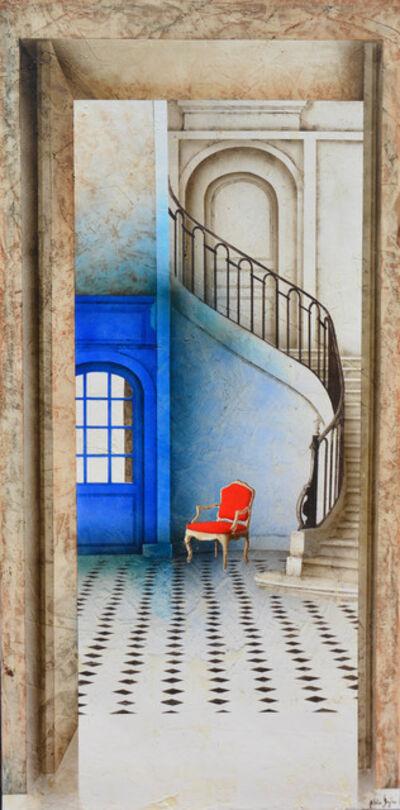 Alain Gazier, 'Escalier bleu', 2018