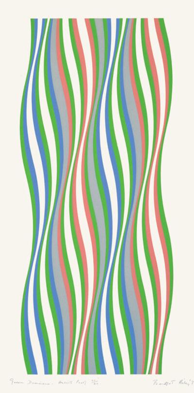 Bridget Riley, 'Green Dominance', 1977
