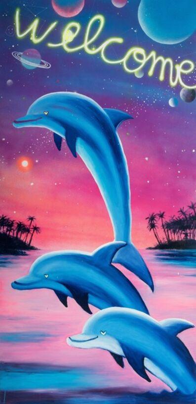 Bel Fullana, 'Cosmic Dolphins Bech Towel', 2019