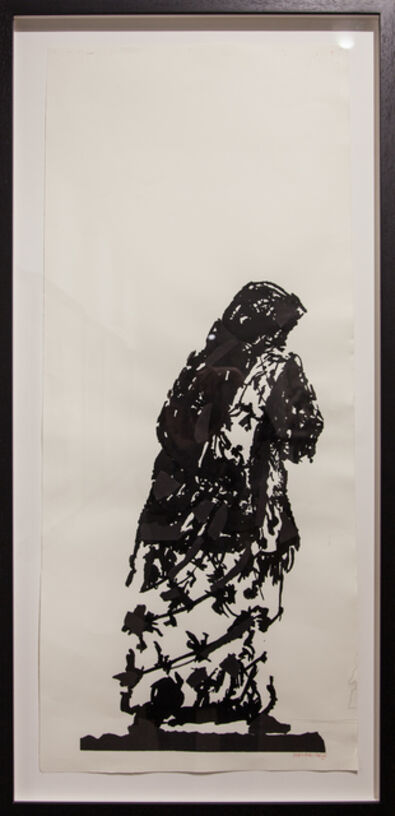 William Kentridge, 'Widow of Lampedusa II (drawing for Triumphs and Laments)', 2016