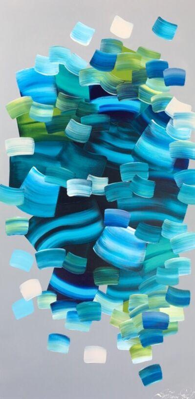 Stephanie Rivet, 'Turquoise - Grey', 2019