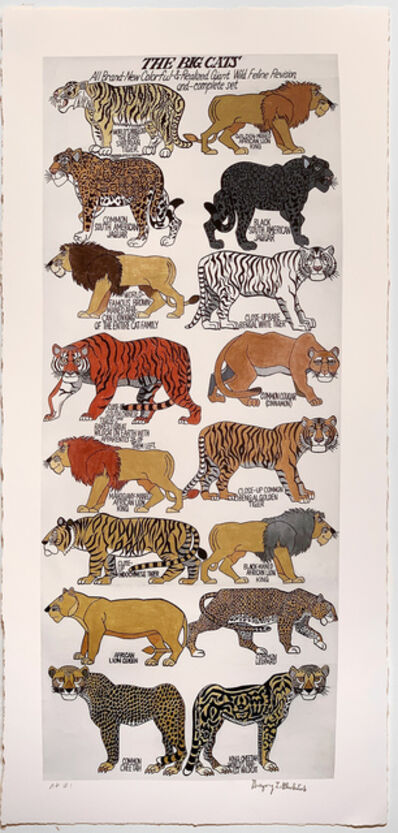 Gregory Blackstock, 'THE BIG CATS from THE INCOMPLETE HISTORICAL WORLD, PART II', 2021