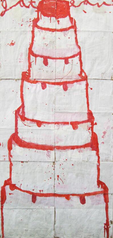 Gary Komarin, 'Stacked Cake (red on white)'