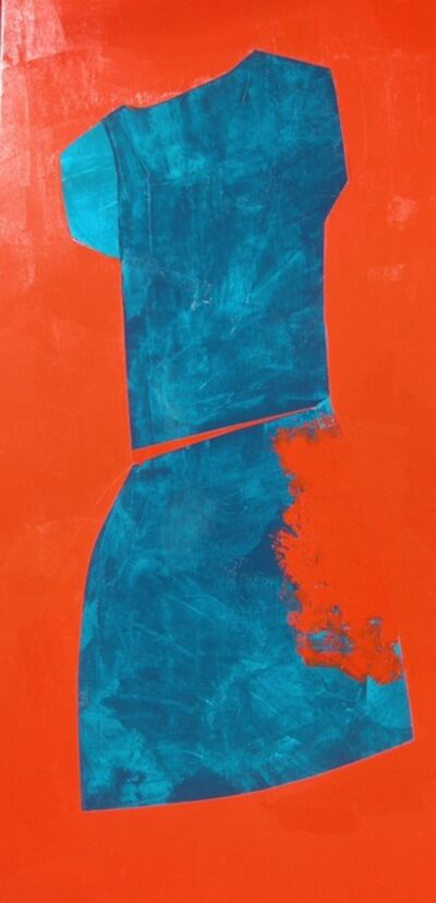 Carolina Convers, 'Figure Turquoise and Red', 2014