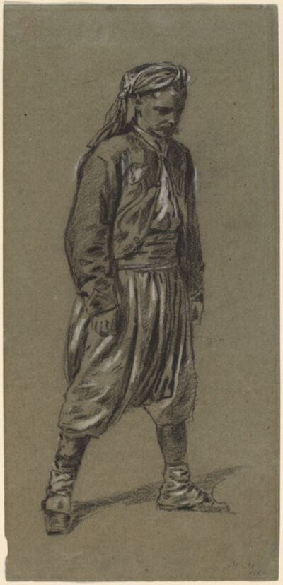 Winslow Homer, 'Zouave', 1864