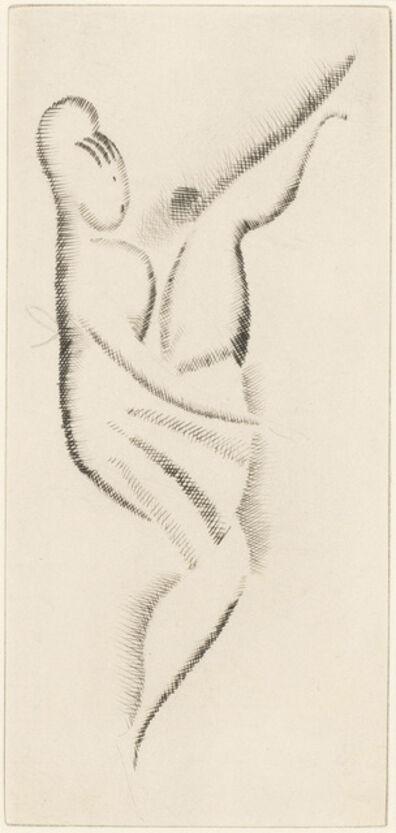 Elie Nadelman, 'HIGH KICKER IN PROFILE (KIRSTEIN 11)', 1920