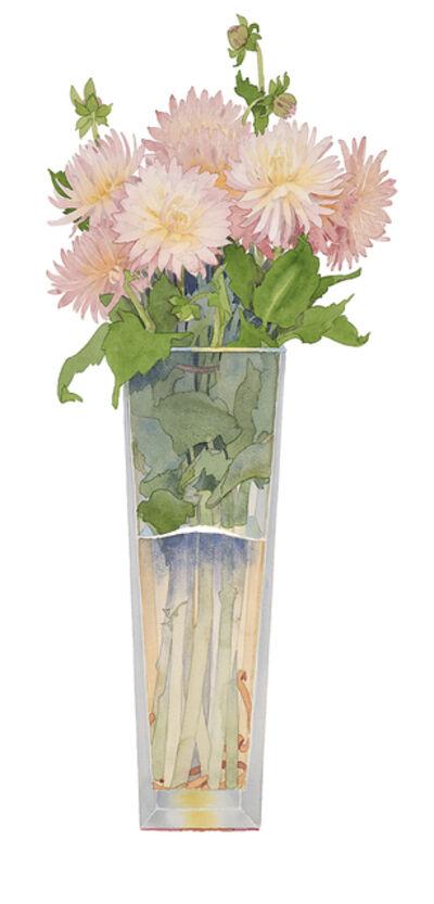 Gary Bukovnik, 'Pink Peonies in a Tall Vase   ', 2017