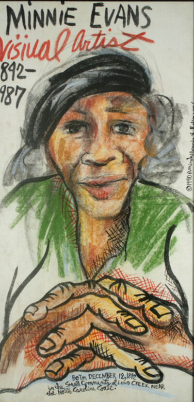Aminah Brenda Lynn Robinson, 'Minnie Evans', 1990
