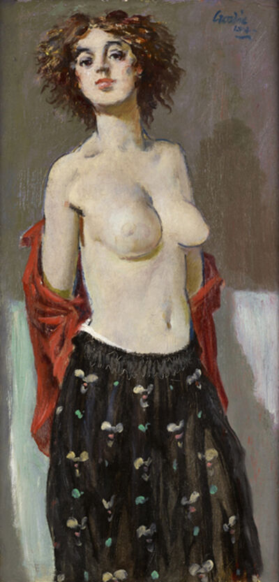 William Crosbie, 'Model with Red Blouse', 1964