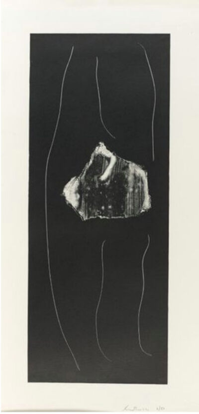 Robert Motherwell, 'Soot Black Stone #1', 1973