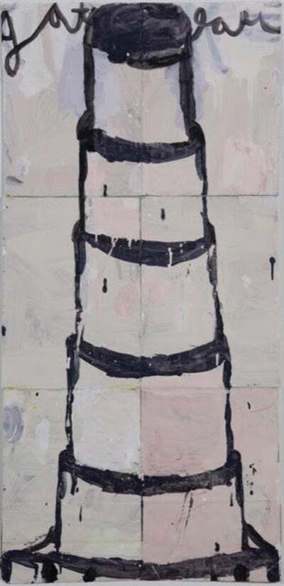 Gary Komarin, 'Stacked Cake: Black on Pale Pink and Grey  ', 2015
