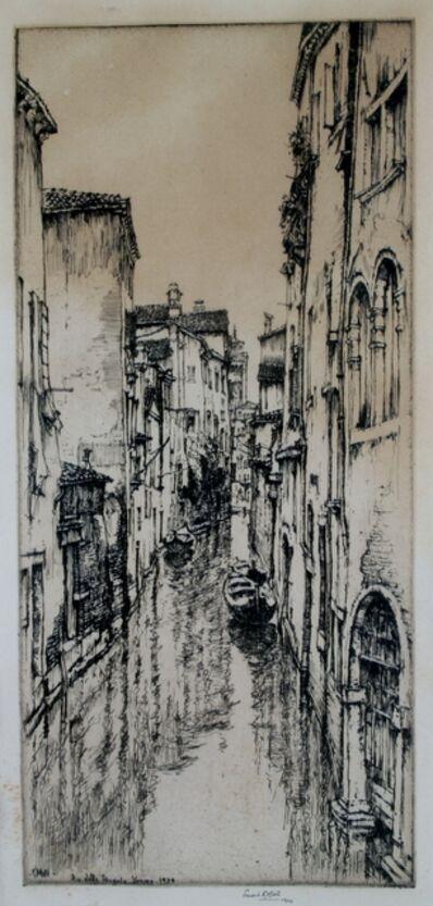Ernest David Roth, 'Rio della Pergola, Venice', 1924