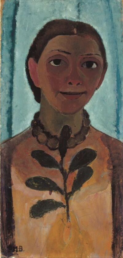 Paula Modersohn-Becker, 'Autoportrait à la Branche de Camélia ', 1906-1907