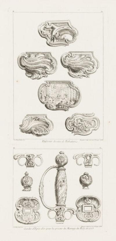 Juste-Aurèle Meissonnier, 'Differents Desseins de Tabatieres, deuxième planche (Different Designs for Snuff Boxes)', 1748
