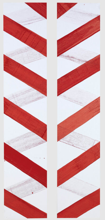 Hadas Hassid, 'Untitled (Paper Wrapped by Red Line)', 2012