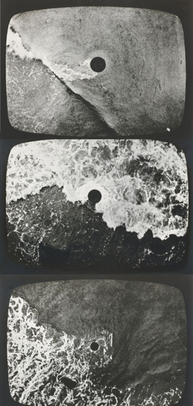 Barry Flanagan, 'hole in the sea (triptych)', 1967-1970