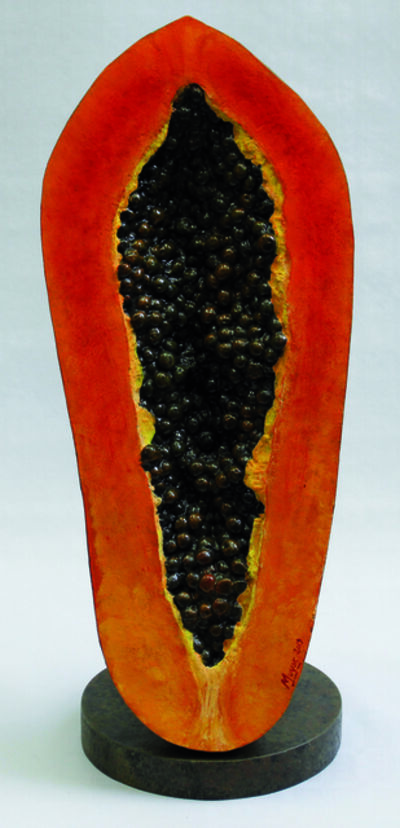 Rafael Muyor, ' Vertical cut papaya', 2019