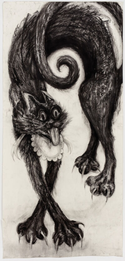 Aurel Schmidt, 'Cat 2 (Black)', 2017