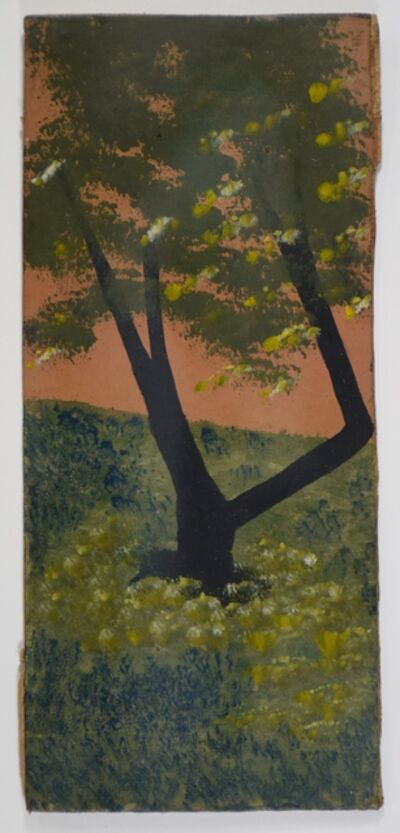 Frank Walter, 'Tree in a Meadow with Orange Sky'