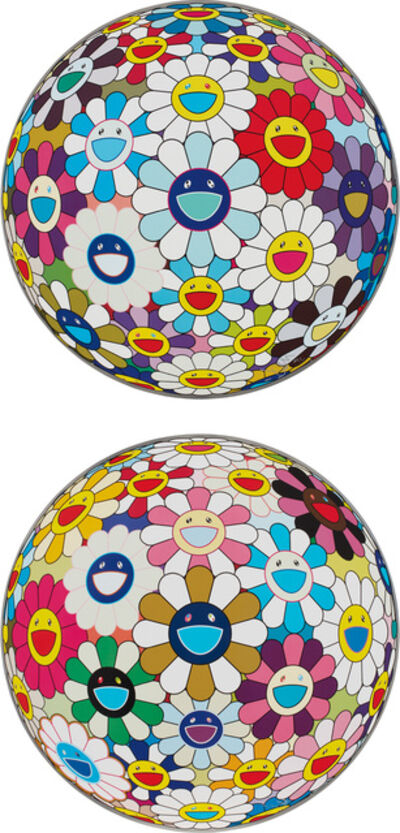 Takashi Murakami, 'Flower Ball (3-D) Autumn 2004; and  Flower Ball (3-D) Sequoia sempervirens', 2013