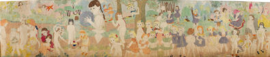 "Henry Darger, 'Untitled, c. 1950-1960 (recto); Untitled (""At Jennie Richee…""), c. 1950-1960 (verso)', n.d."