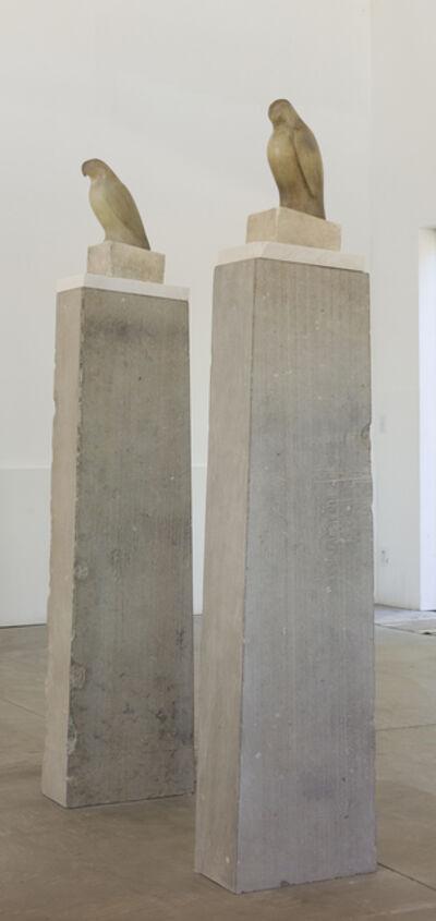 Jane Rosen, 'Grey White Column (Left) & Grey White Column (Right)'