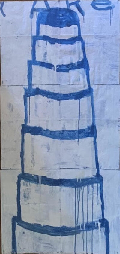 Gary Komarin, 'Cake Stacked: Blue on White  ', 2019
