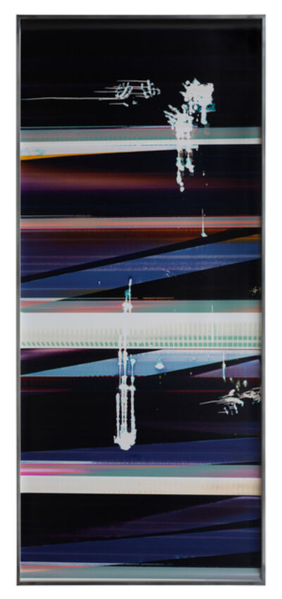 Walead Beshty, 'Cross-Contaminated RA4 Contact Print [Black Curl (9:6/MCY/Six Magnet: Los Angeles, California, August 14, 2014, Fujicolor Crystal Archive Super Type C, Em. No.112-012, Kodak Ektacolor RA Bleach-Fix and Replenisher, Cat. No. 847 1484, 95514), Kreonite KM IV 5225 RA4 Color Processor, Ser. No. 00092174]', 2014