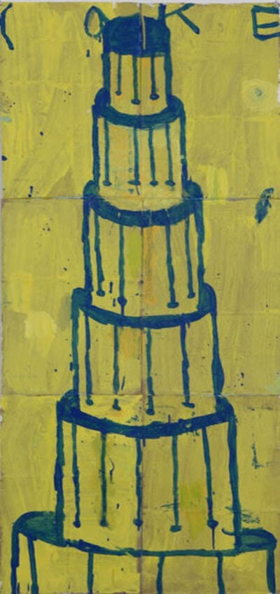 Gary Komarin, 'Cake Stacked: Blue on Yellow', 2015