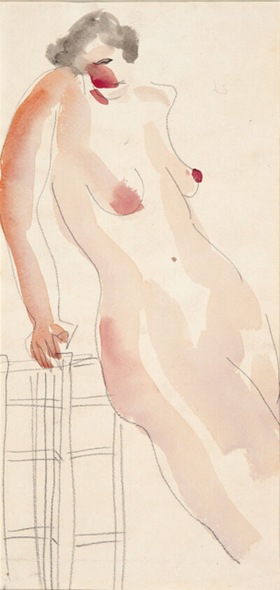 Sanyu, 'A Nude Lady lay on a chair'