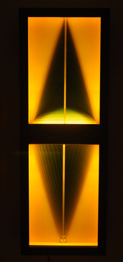 Kenneth Emig, 'Yellow Alcove - Illuminated, symmetrical, geometric forms in amber yellow', 2020