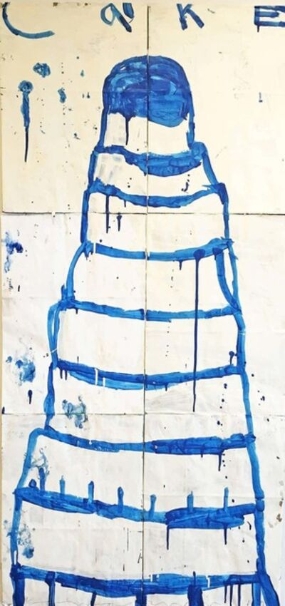 Gary Komarin, 'Cake (Blue on Crème) / 8.5-tier', 2014