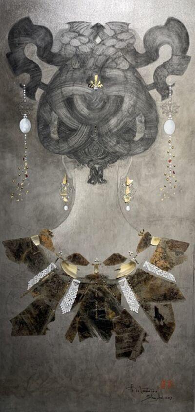 Christian de Laubadère 麓幂, 'Neck painting with mica&lace', 2019