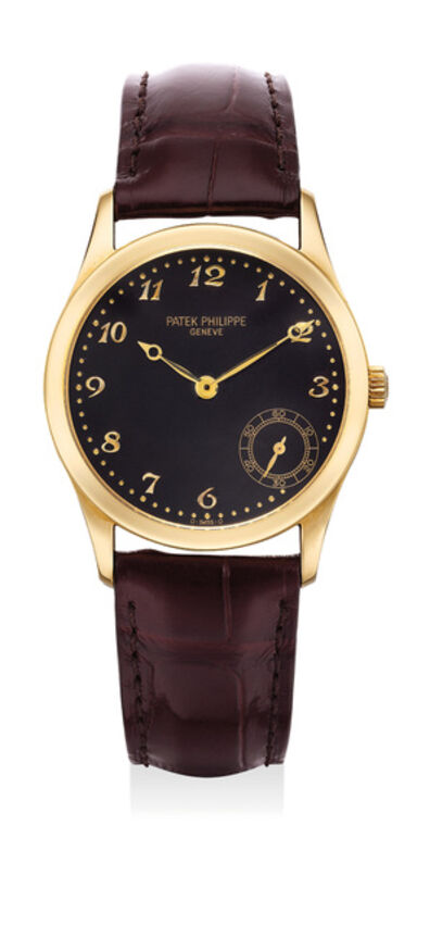 Patek Philippe, 'A fine and attractive yellow gold wristwatch with small seconds and Breguet numerals', 1998