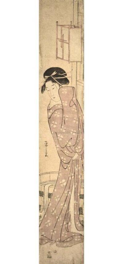 Hosoda Eishi, 'After the Bath', ca. 1790