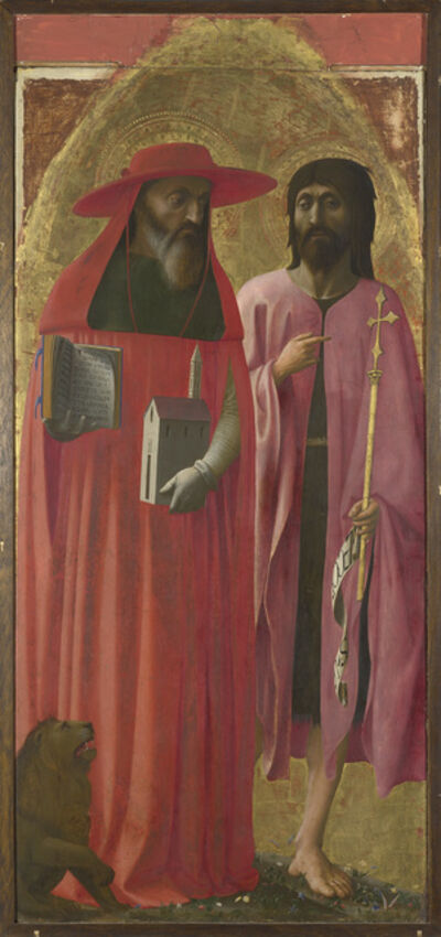 Masaccio, 'Saints Jerome and John the Baptist', about 1428-1429