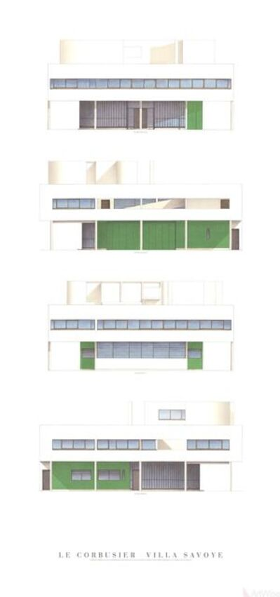 Le Corbusier, 'Villa Savoye, Four Elevations', (Date unknown)